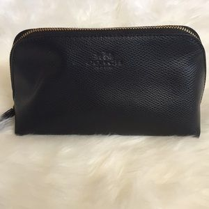 Black Coach cosmetic bag